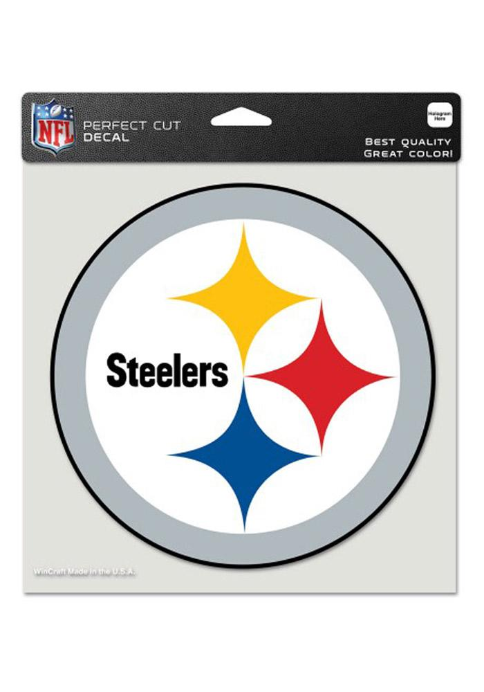 Pittsburgh Steelers 8x8 Perfect Cut Decal - Image 1
