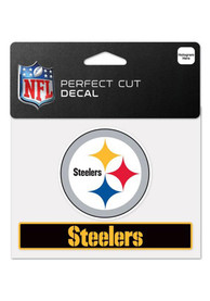 Pittsburgh Steelers 4x5 Team Perfect Cut Auto Decal - Black