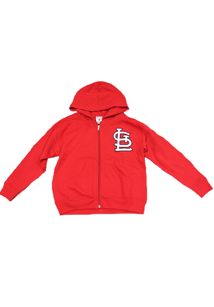 St Louis Cardinals Youth Red Full Zip Long Sleeve Full Zip Jacket - Image 1