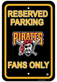 Pittsburgh Pirates Plastic Parking Sign