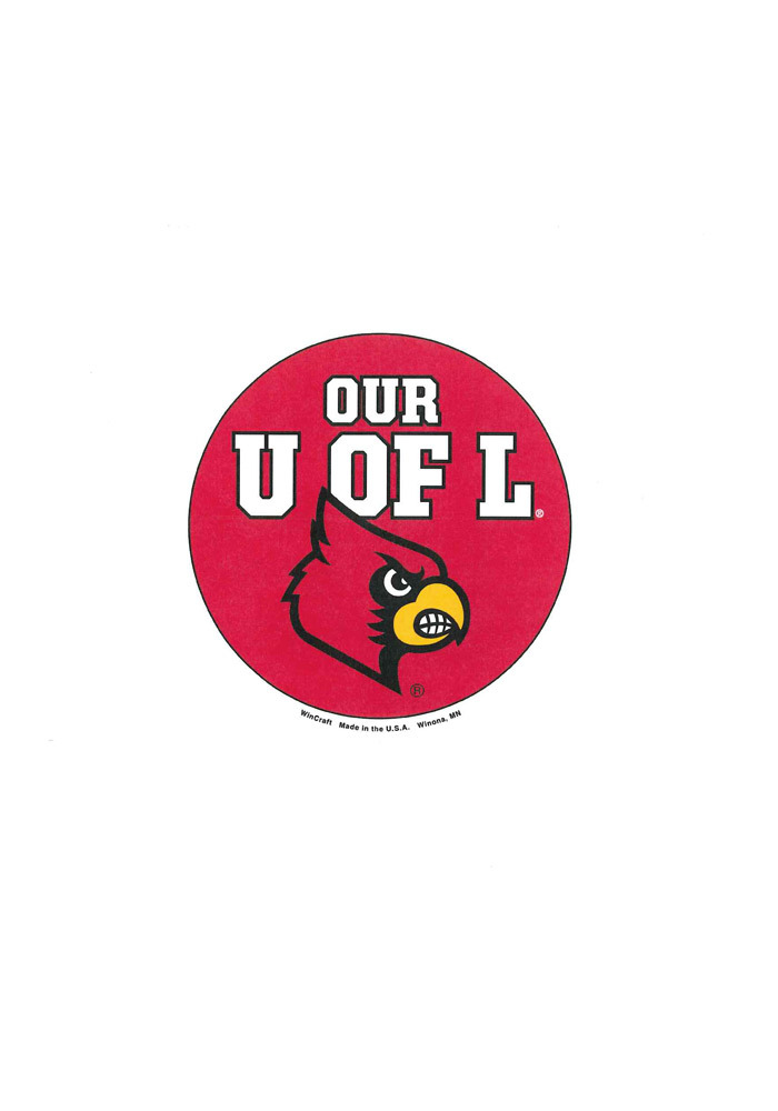 Louisville Cardinals 3in Our U of L Button - Image 1