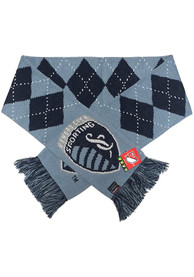 Sporting Kansas City Argyle Scarf - Navy Blue