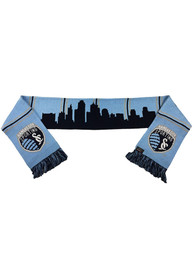 Sporting Kansas City Skyline Scarf - Navy Blue