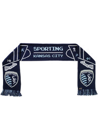 Sporting Kansas City 8 Bit Scarf - Blue