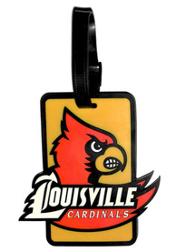 Louisville Cardinals Rubber Luggage Tag - Yellow
