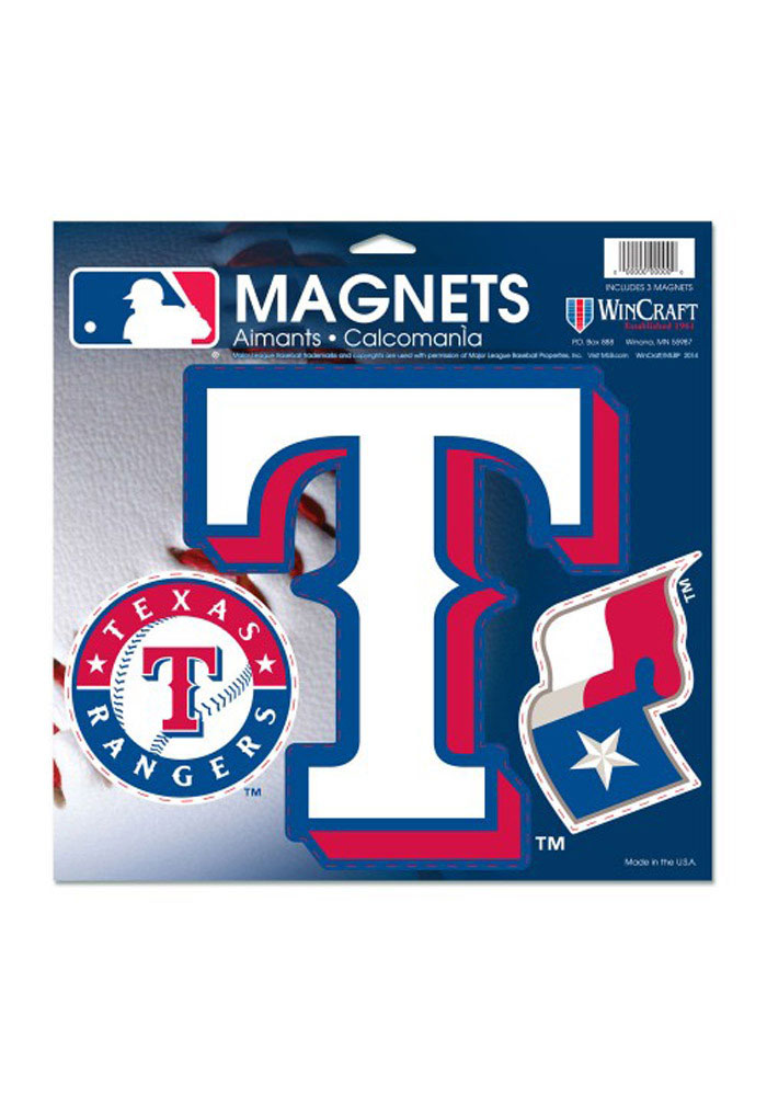 Texas Rangers 11x11 Multi Pack Car Accessory Car Magnet - Image 1