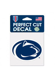 Penn State Nittany Lions 4x4 Perfect Cut Auto Decal - Navy Blue