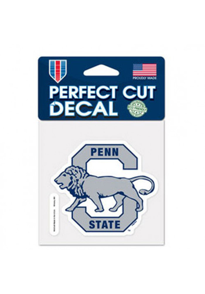 Penn State Nittany Lions 4x4 Vault Logo Auto Decal - Navy Blue