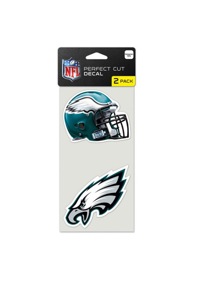 Philadelphia Eagles 4x4 2 Pack Perfect Cut Auto Decal - Midnight Green - Image 1