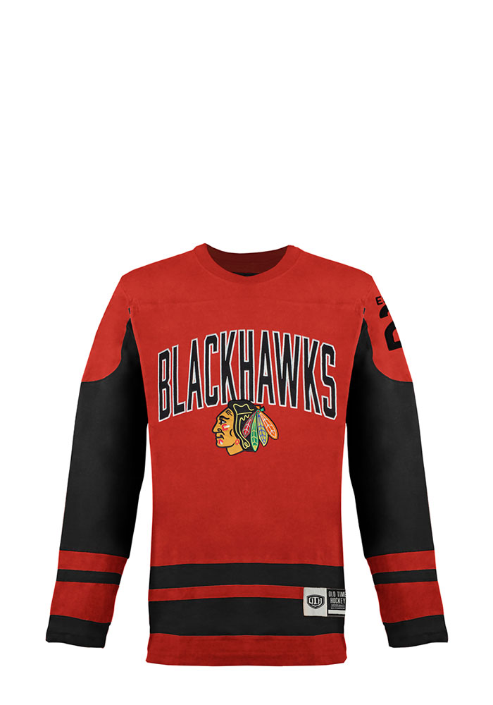 Chicago Blackhawks Red Dufferin Long Sleeve Fashion T Shirt - Image 1
