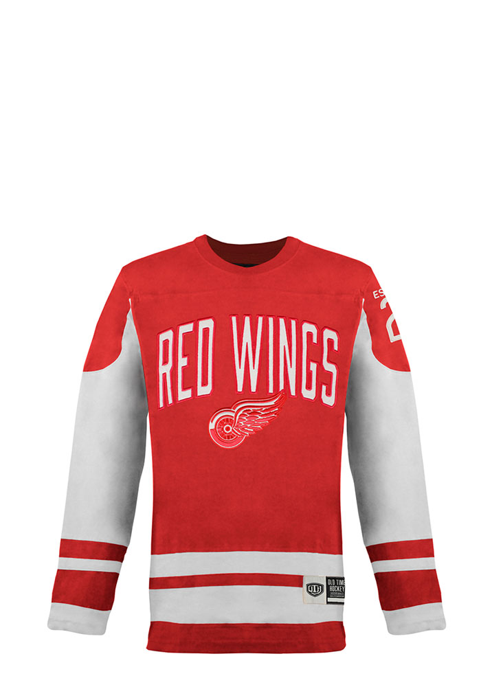 Detroit Red Wings Red Dufferin Long Sleeve Fashion T Shirt - Image 1