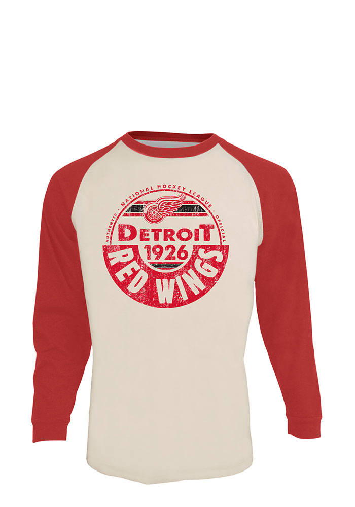 Detroit Red Wings Grey Spheric Long Sleeve Fashion T Shirt - Image 1