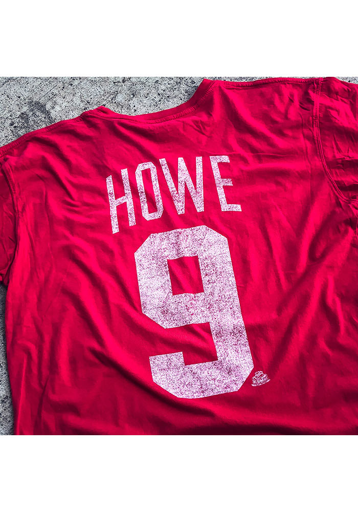 Gordie Howe Detroit Red Wings Gray Short Sleeve Fashion Player T Shirt - Image 2