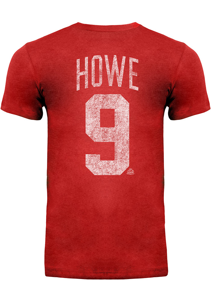 Gordie Howe Detroit Red Wings Gray Short Sleeve Fashion Player T Shirt - Image 3