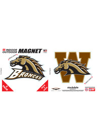 Western Michigan Broncos 6x6 2pk Car Magnet - Brown
