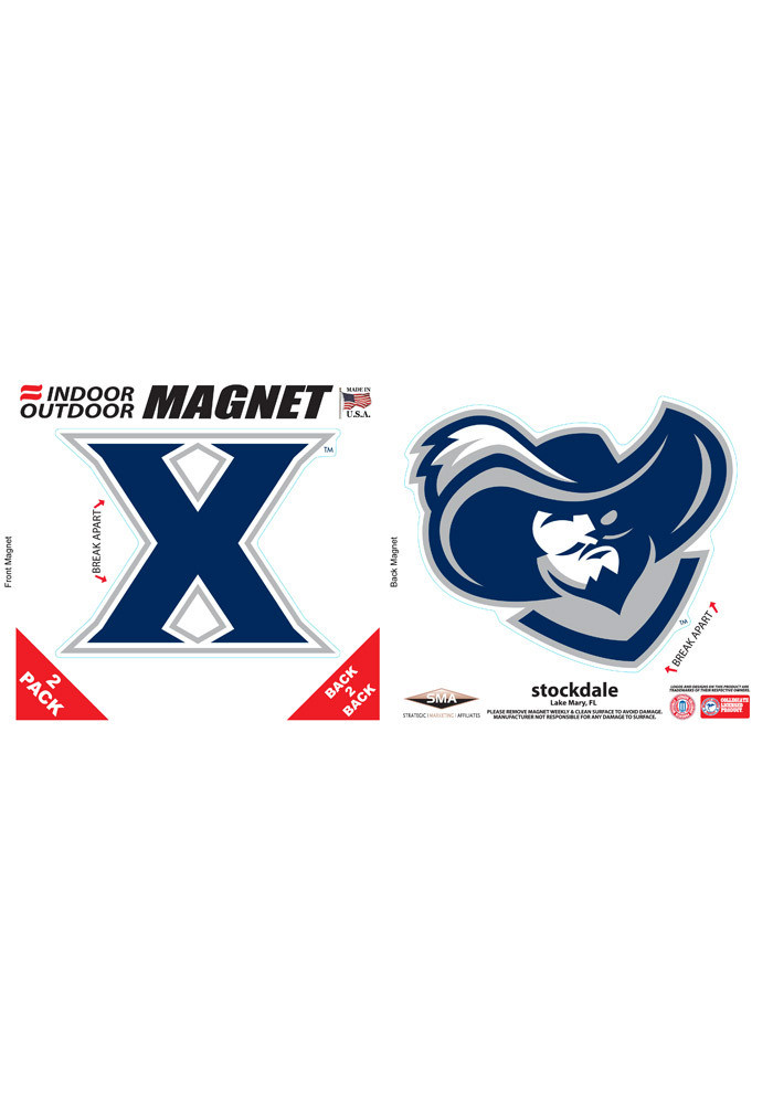 Xavier Musketeers 6x6 2pk Car Accessory Car Magnet - Image 1