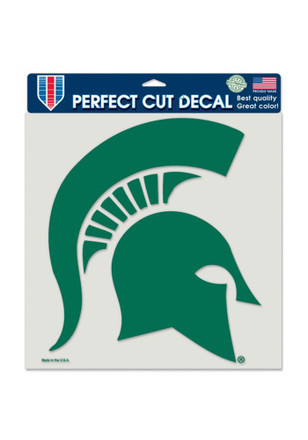 Michigan state spartans 8x8 perfect cut decal
