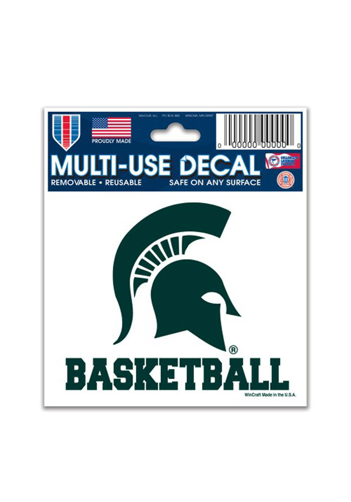 Michigan State Spartans 3x4 Basketball Decal - Image 1