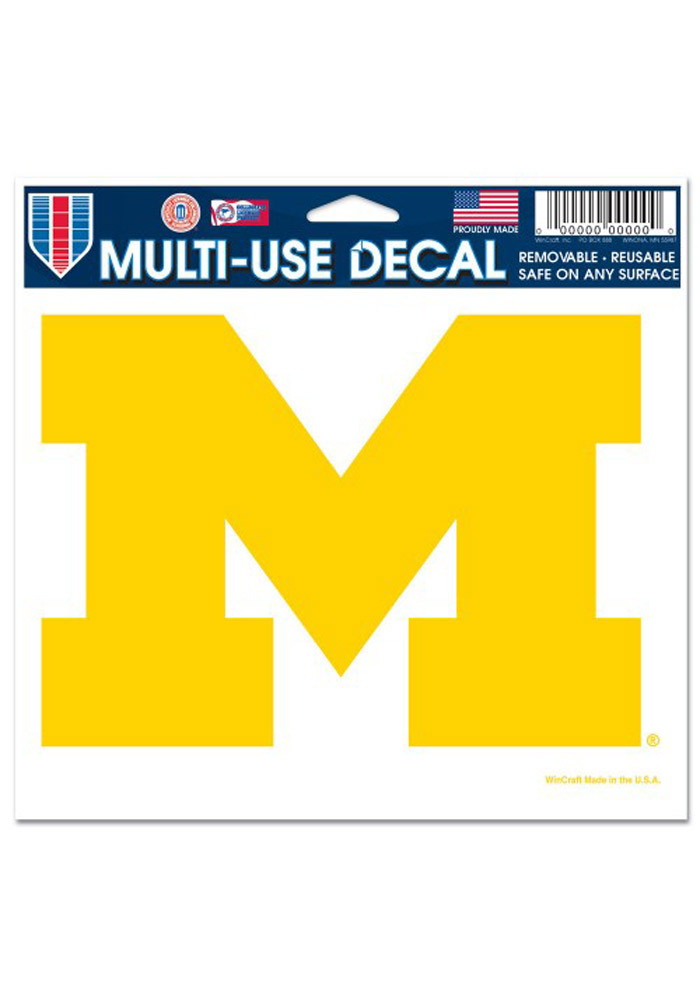 Michigan Wolverines 5x6 Multi Use Decal - Image 1