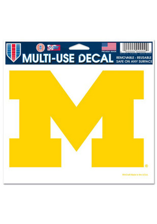 Michigan Wolverines 5x6 Multi Use Decal