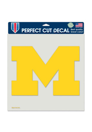 Michigan Wolverines 8x8 Perfect Cut Decal