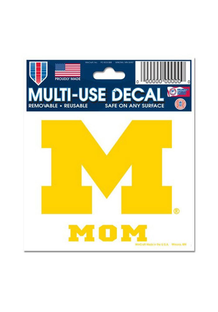 Michigan Wolverines 3x4 Mom Decal - Image 1