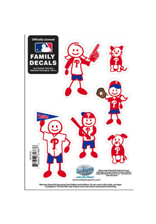Philadelphia Phillies 5x7 Family Pack Decal