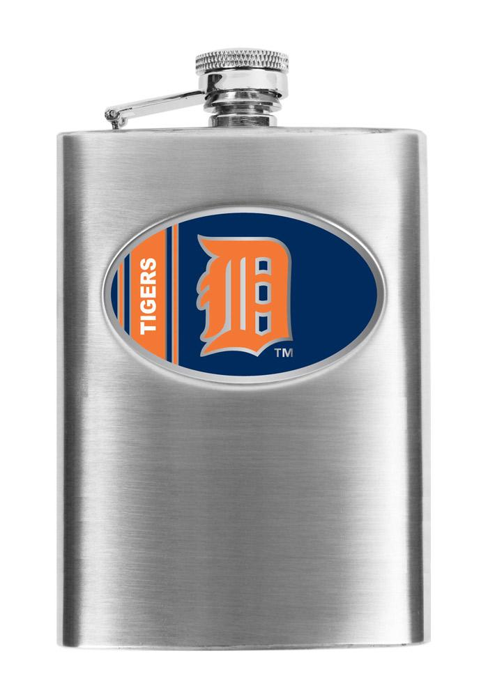 Detroit Tigers 8oz Stainless Steel Flask - Image 1