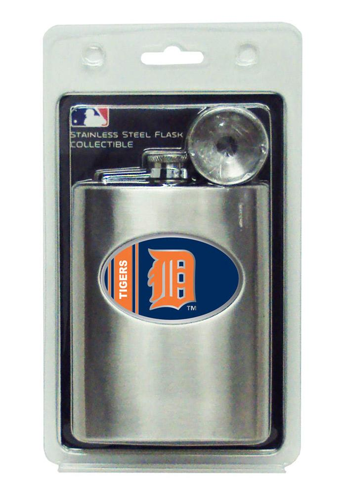 Detroit Tigers 8oz Stainless Steel Flask - Image 2