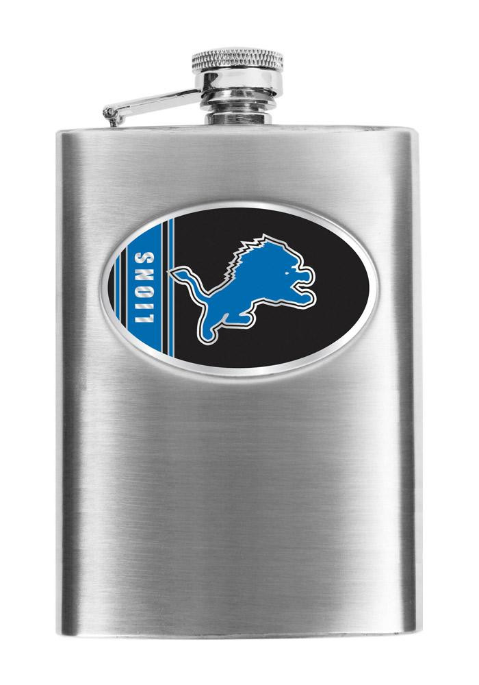 Detroit Lions 8oz Stainless Steel Flask - Image 1