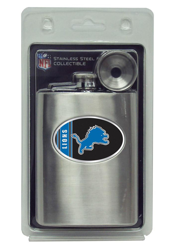 Detroit Lions 8oz Stainless Steel Flask - Image 2