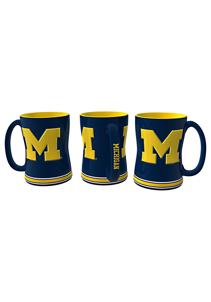 Michigan Wolverines 14oz Sculpted Mug - Image 1