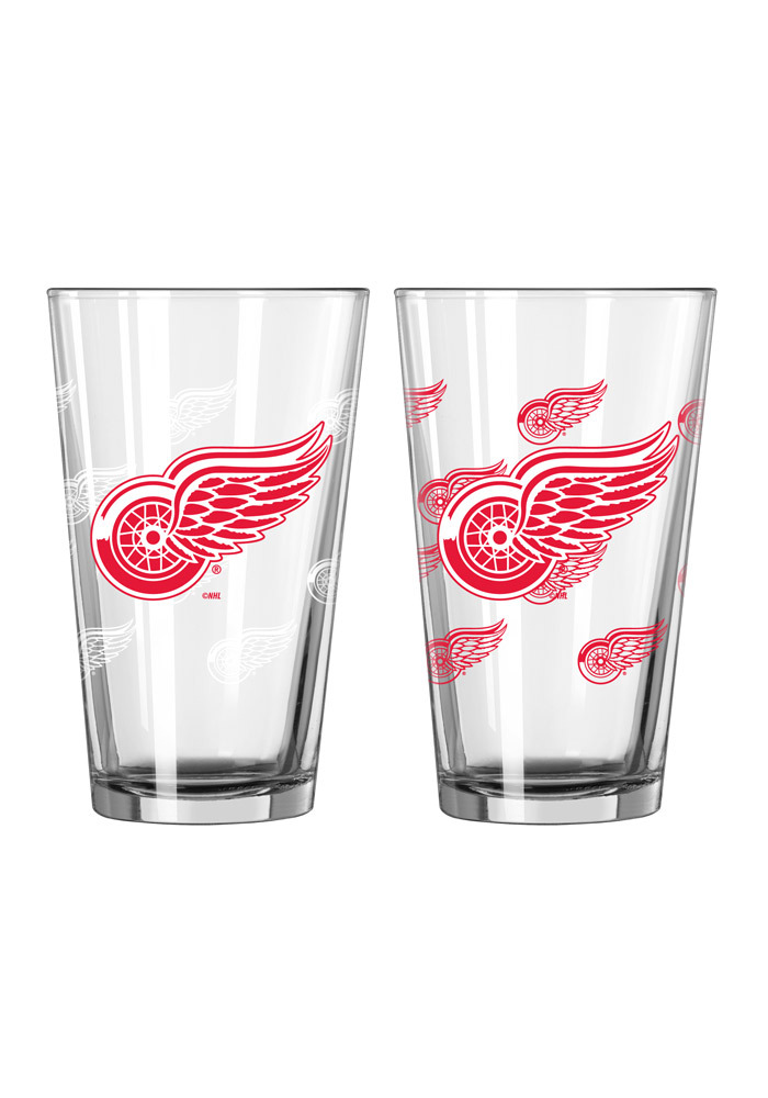 Detroit Red Wings 16 oz Color Changing Pint Glass - Image 1
