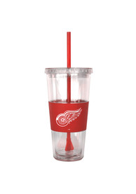 Detroit Red Wings 22oz Clear Straw Tumbler
