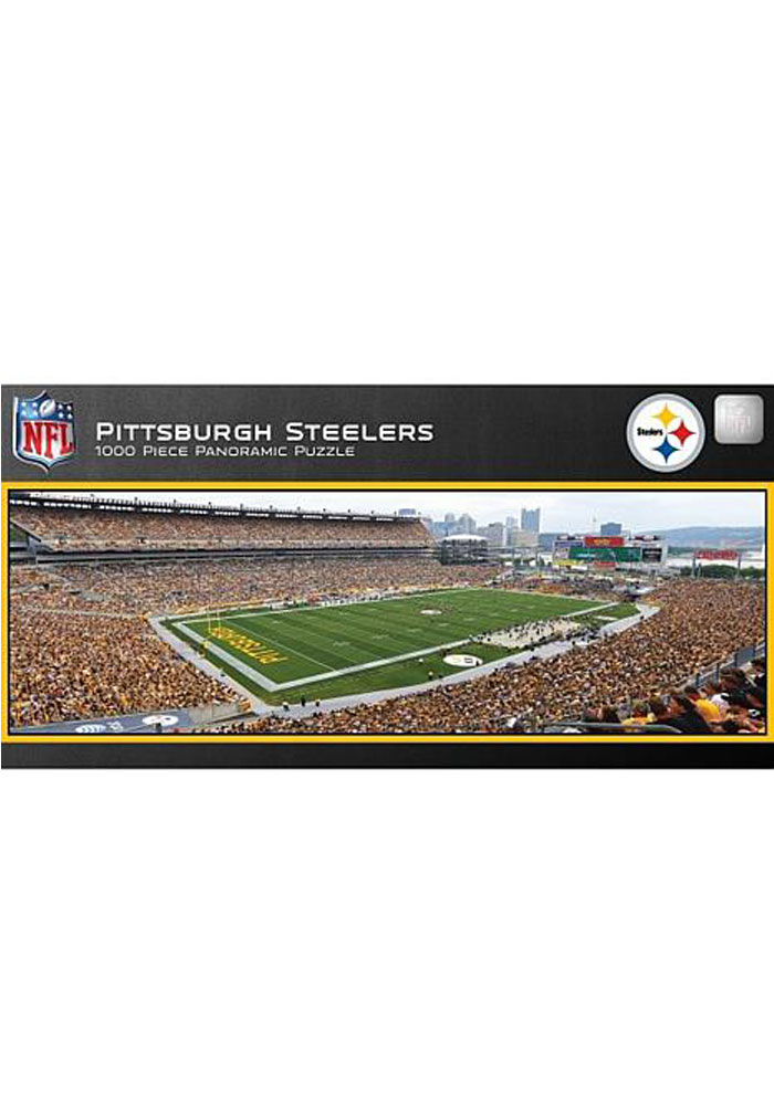 Pittsburgh Steelers 1000 Piece Pano Stadium Puzzle - Image 1