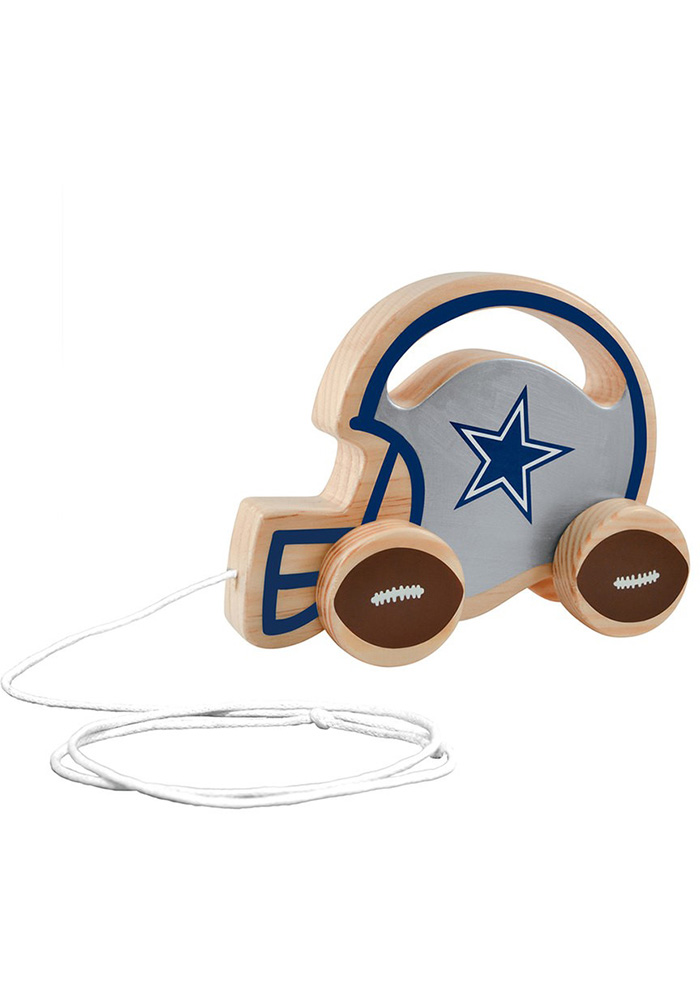 Dallas Cowboys Push & Pull Wooden Figurine - Image 1