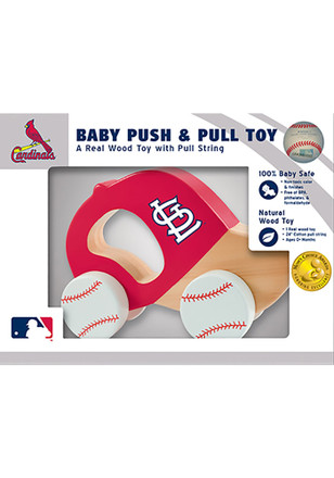 St Louis Cardinals Push & Pull Wooden Figurine