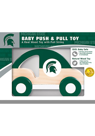 Michigan State Spartans Push & Pull Wooden Car