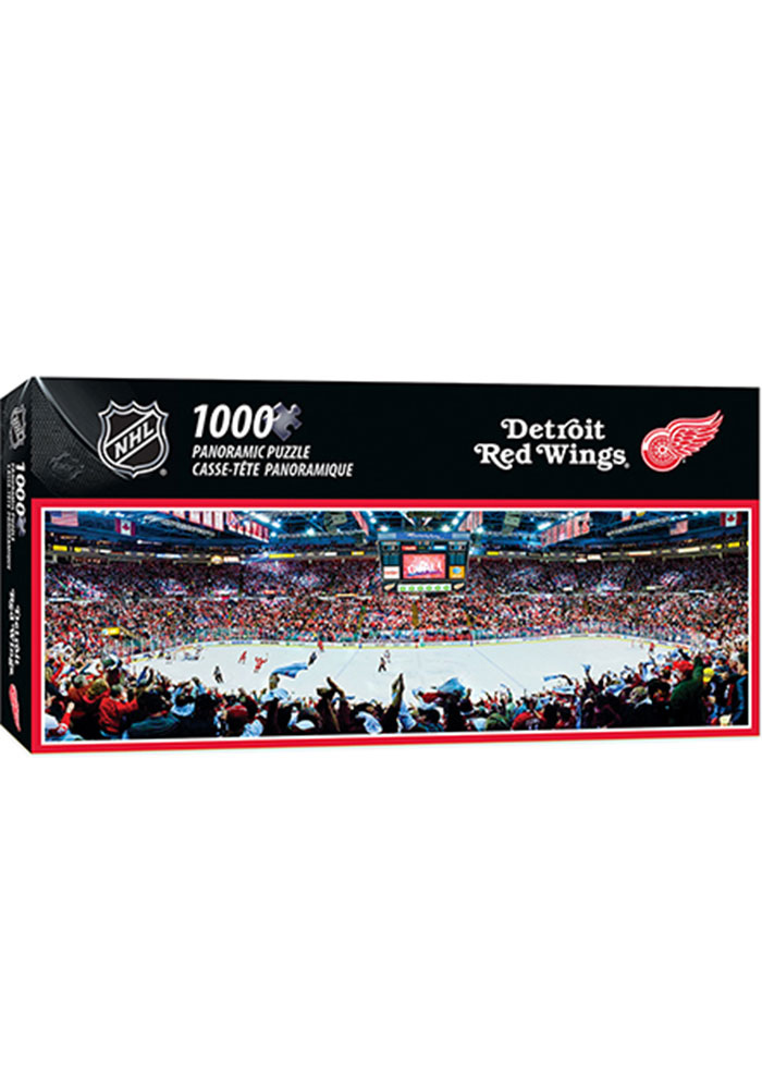 Detroit Red Wings 1000 Piece Pano Stadium Puzzle - Image 1