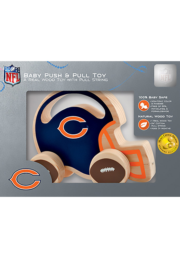 Chicago Bears Push & Pull Wooden Figurine - Image 1