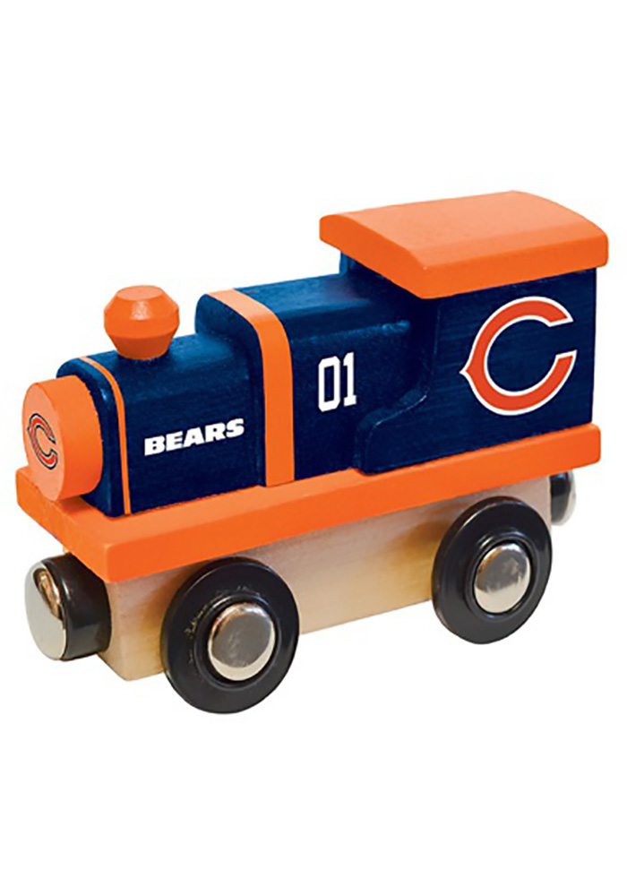 Chicago Bears Wooden Train