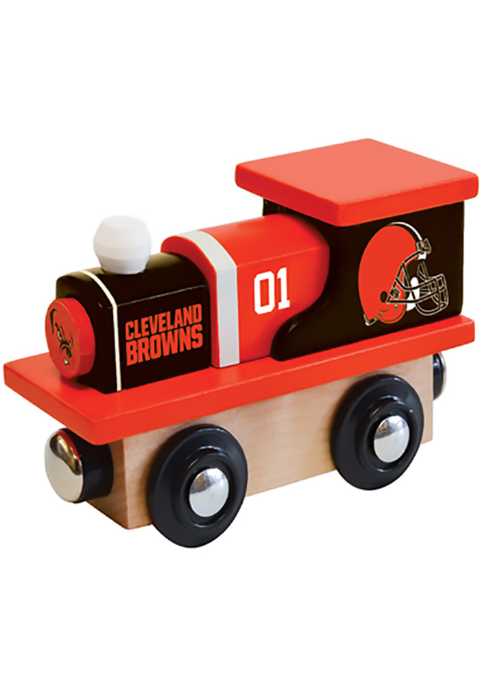 Cleveland Browns Wooden Train - Image 1