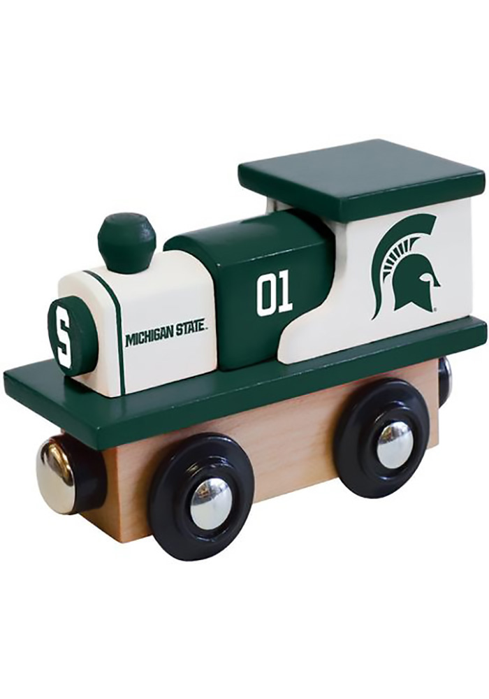 Michigan State Spartans Wooden Train - Image 1