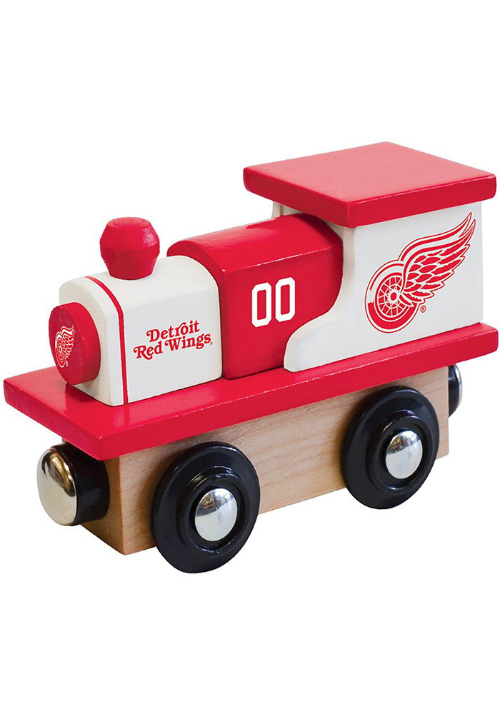 Detroit Red Wings Wooden Train - Image 1