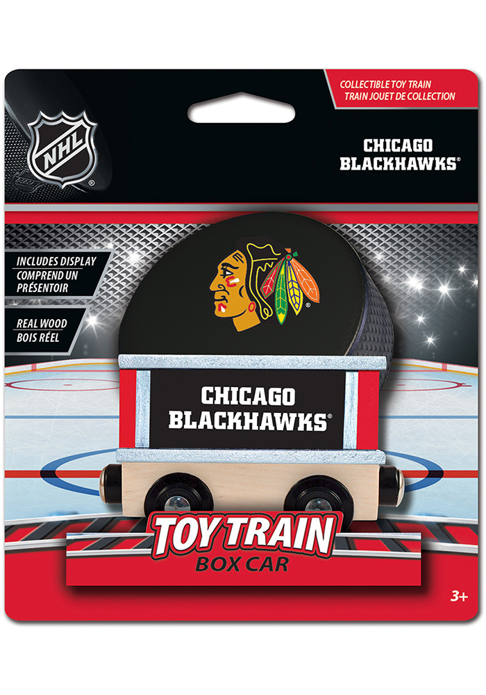 Chicago Blackhawks Wooden Train - Image 1