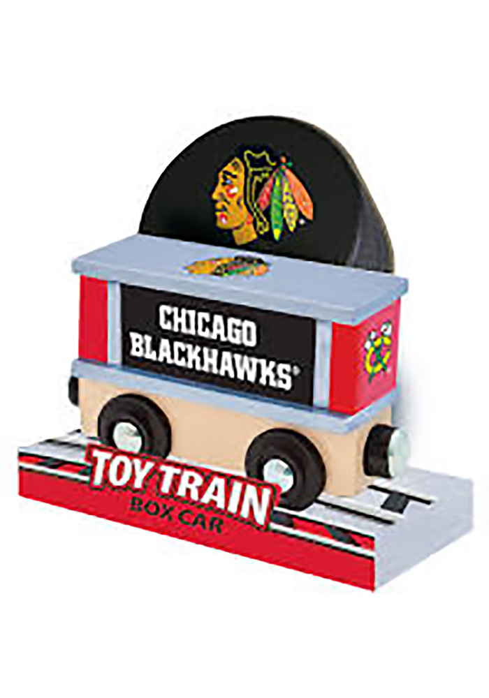 Chicago Blackhawks Wooden Train - Image 3