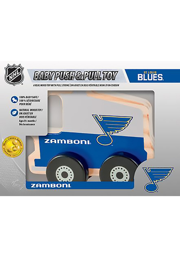 St Louis Blues Push & Pull Wooden Figurine - Image 1