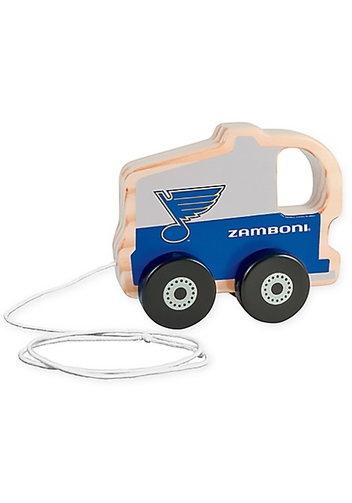 St Louis Blues Push & Pull Wooden Figurine - Image 2