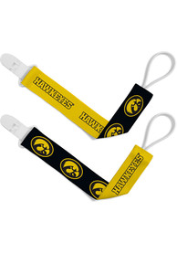 Iowa Hawkeyes Baby 2pk Pacifier - Yellow