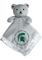 Michigan State Spartans Gray Baby Blanket
